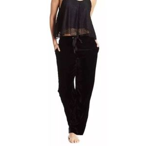 Sam Edelman Lace Tank Velour Pants Pajamas Set